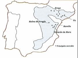 Mapa area trufa