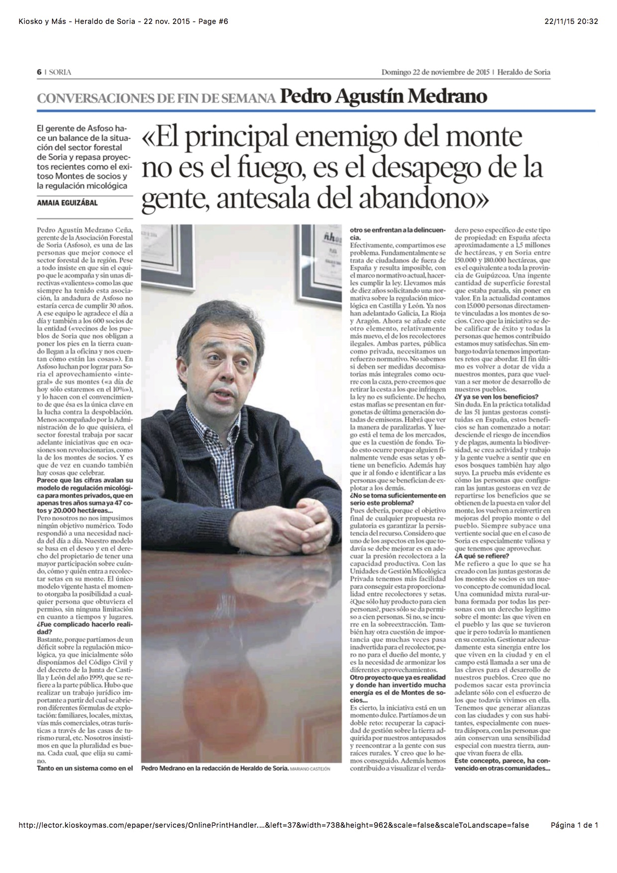 Entrevista 22 nov 2015 pag1